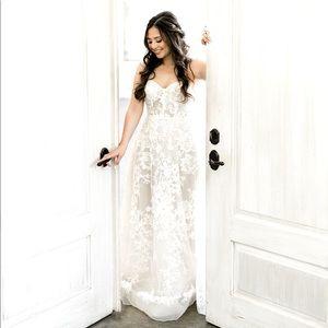 Berta Briony Lace A-line Wedding Dress